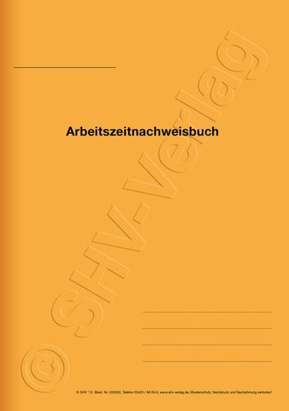 Arbeitszeitnachweisbuch A4