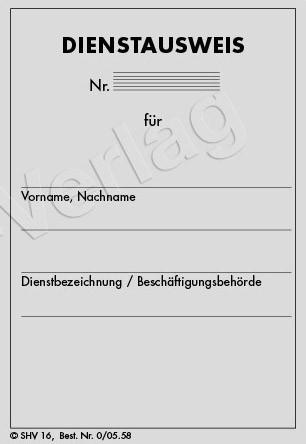 Dienstausweis für Behörden