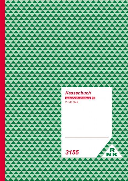 Kassenbuch - mit Umsatzsteuererfassung selbstdurchschreibend Umschlag