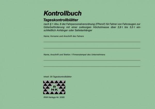 Kontrollbuch für Transporter 2,8 - 3,5 t
