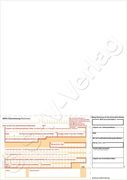 SEPA Überweisung/Zahlschein