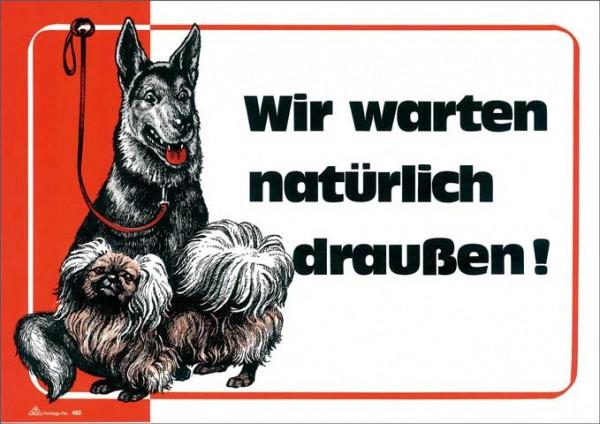 """Hinweisschild """"Hundeverbot"""", Maße (BxH): 300 x 210 mm, 400g/m² Karton zur Kennzeichnung im Eingangsbereich."""