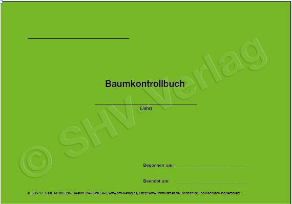 Baumkontrollbuch Umschlag A5 quer