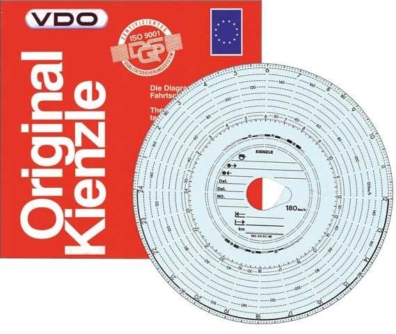 Original Kienzle Diagrammscheiben 140-24 EC 4 K