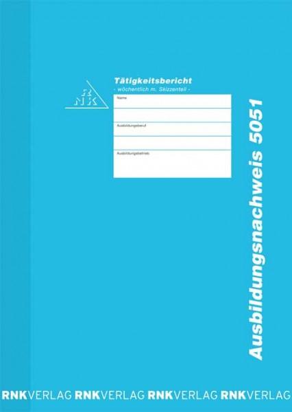 Ausbildungsnachweis-Heft wöchentlich für das Handwerk