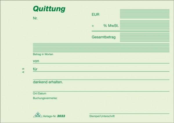 Quittung - Block - selbstdurchschreibend