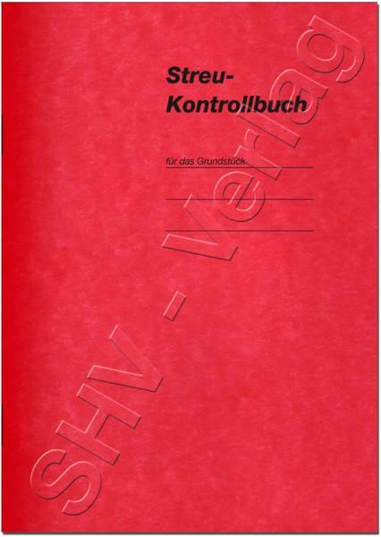 Streukontrollbuch für Grundstücke Umschlag