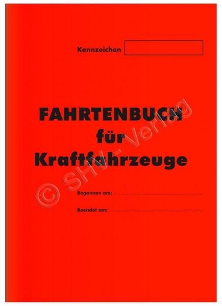 Fahrtenbuch für Kraftfahrzeuge A5