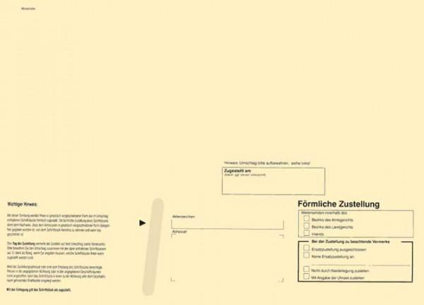Zustellungsumschlag Format DIN C4 - ohne Sichtfenster