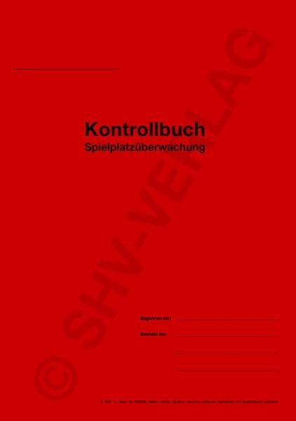 Kontrollbuch für Spielplätze, Umschlag, A5
