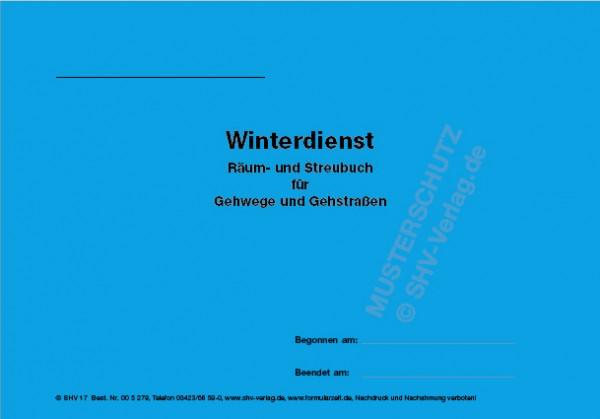 Streubuch Gehwege Umschlag außen
