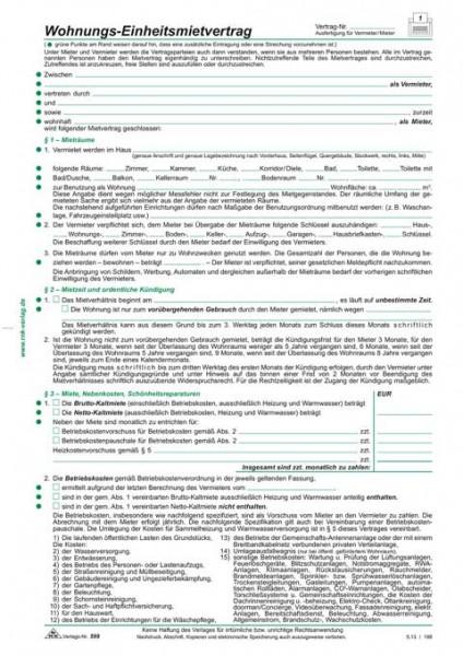 Wohnungs-Einheitsmietvertrag