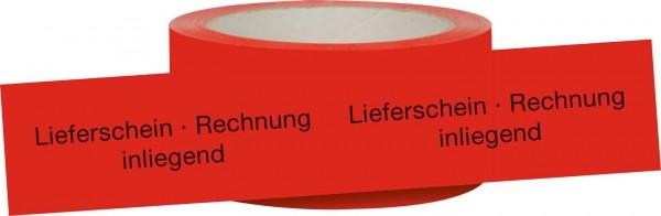 """Signalklebeband """"Lieferschein -Rechnung inliegend"""""""