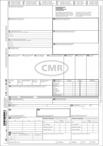 Internationaler Frachtbrief (CMR) - selbstdurchschreibend, Vorderseite