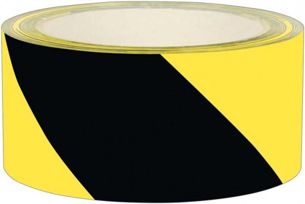 Signalklebeband gelb-schwarz schräg gestreift