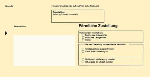 Zustellungsumschlag Format DIN Lang - mit Sichtfenster