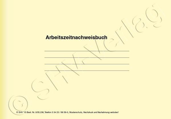 Arbeitszeitnachweisbuch Umschlag