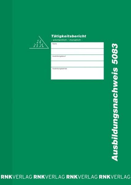 Ausbildungsnachweis - Heft für wöchentliche oder monatliche Eintragungen Titel