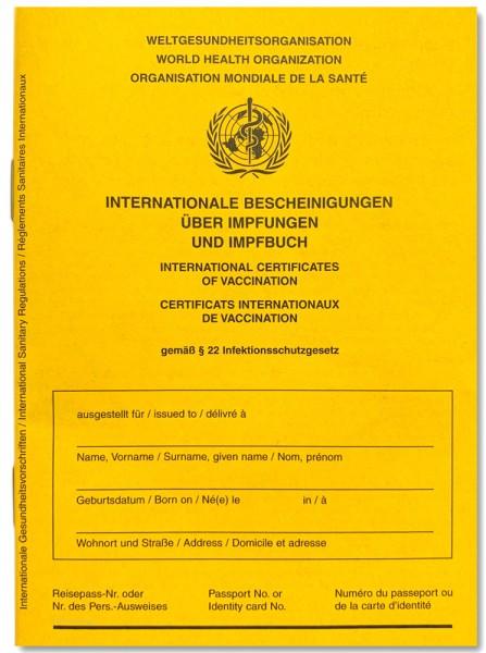 Internationale Bescheinigungen über Impfungen und Impfbuch S1