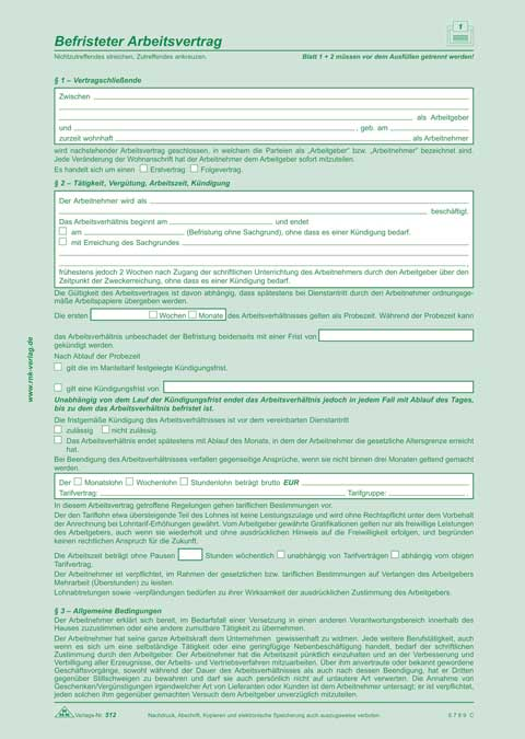 Befristeter Arbeitsvertrag Arbeitsverträge Arbeit Büro Beruf