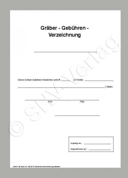 Gräber- u. Gebühren-Verzeichnis