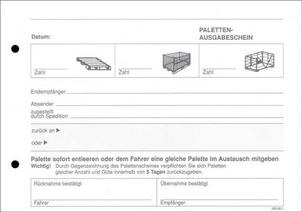 Palettenschein / Lademittelnachweis - Block