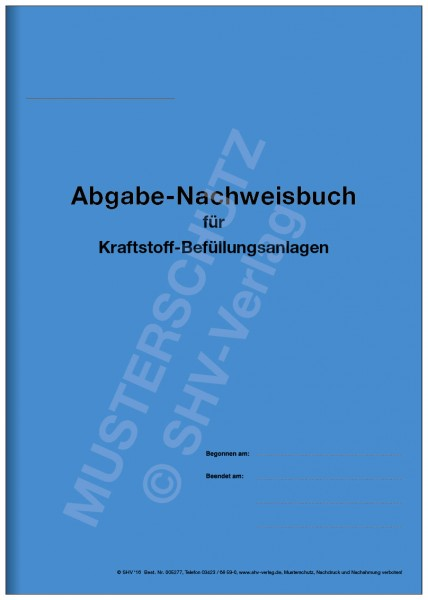 Tankbuch-Umschlag