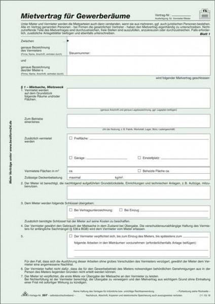 Mietvertrag für Gewerberäume - SD